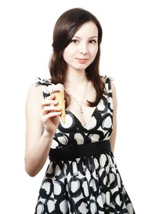 Free Girl With Ice Cream Stock Photography - 14670612
