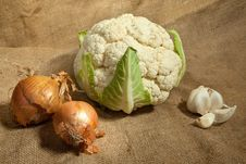 Free Cauliflower Cabbage Royalty Free Stock Photography - 14670687