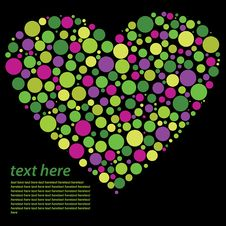 Text Concept Of Heart Stock Images