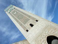 Free Casablanca Hassan II Mosque Minaret Royalty Free Stock Photography - 14670967
