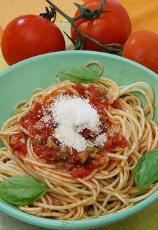 Free Pasta With Tomato Sauce Royalty Free Stock Image - 14671036