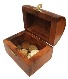 Free Wooden Chest With Coins Stock Photos - 14671063