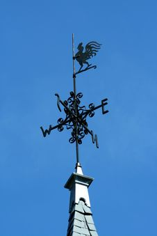 Rooster Weather Vane Stock Photography