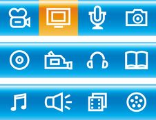 Free Media - Vector Icons Set Stock Photo - 14671880