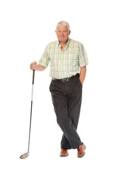 Free Happy Casual Mature Golfer Royalty Free Stock Image - 14671966