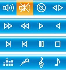 Free Vector Icons Set - Sound Royalty Free Stock Image - 14671996