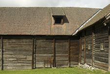 Free Old Farmer S Wooden House Museum Gamle Hvam. Stock Images - 14672384