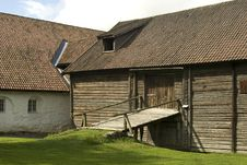 Old Farmer S Wooden House Museum Gamle Hvam. Stock Images