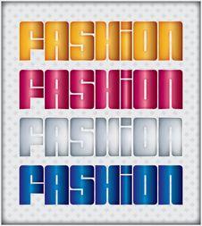 Free Vector Fashion Word Royalty Free Stock Photos - 14672428