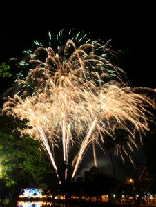 Firework Of The Thai Father S Day Royalty Free Stock Images