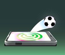 Free Mobile Phone With Ball Target. Stock Image - 14672701