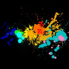 Free Paint Splats Royalty Free Stock Image - 14672856