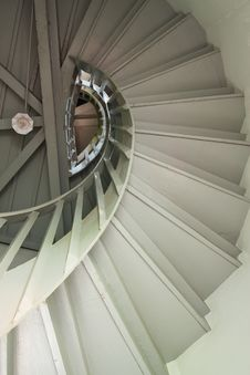A Wood Spiral Staircase Royalty Free Stock Images