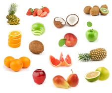 Free Fruits Collection Royalty Free Stock Image - 14673446