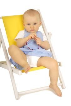 Free Baby On Chair Royalty Free Stock Photography - 14673477