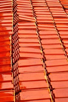 Red Roof Tile Royalty Free Stock Images