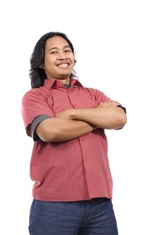 Free Long Haired Man Feel Confident Stock Photo - 14673830