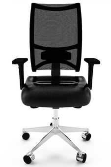 Free Office Armchair Leather Black Royalty Free Stock Photos - 14674318