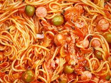 Free Spaghetti With  Sauce Royalty Free Stock Image - 14675246