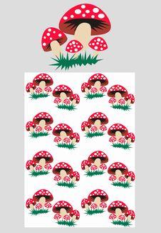 Free Mushroom Pattern Seamless Royalty Free Stock Photo - 14675595
