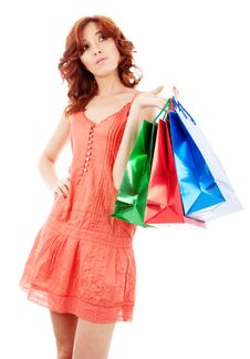 Free Girl With Shopping Bags Stock Images - 14675784