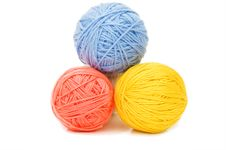Ball Of Threads Isolated On White Royalty Free Stock Photo