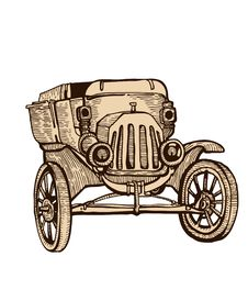 Free Vintage Hand-drawn Car Royalty Free Stock Image - 14676186