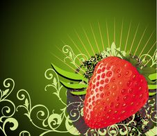 Free Card With Strawberry Stock Photos - 14676373