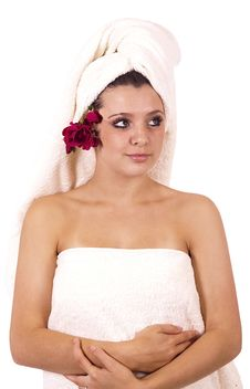 Woman Ready For Spa Royalty Free Stock Photography