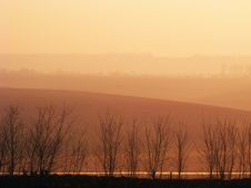 Free Morning Light On Hills.Moldavia Royalty Free Stock Image - 14676966