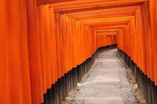 Free Tora Of Fushimi Inari Taisha Shrine Stock Photography - 14677512