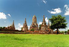 Free Chai Watthanaram Temple,Ayutthaya,T Royalty Free Stock Photos - 14677618