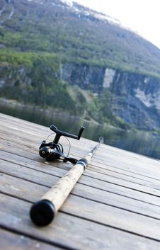 Free Fishing Gear On Jetty Royalty Free Stock Image - 14677776