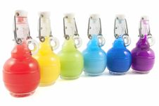Free Set Of Colorful Flasks Royalty Free Stock Images - 14677959