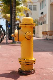 Free Fire Hydrant On Ocean Drive Stock Photo - 14677970