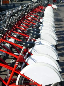 Free Bicycles In A Row Royalty Free Stock Images - 14678029