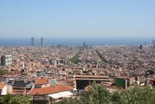 Free Panorama Of Barcelona Royalty Free Stock Photo - 14678095