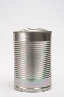 Free Corrugated Can Opened. Royalty Free Stock Images - 14678359
