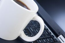 Free Cup On A Keyboard Stock Image - 14678481