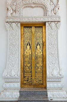 Free Thai Art On Door Stock Images - 14678694