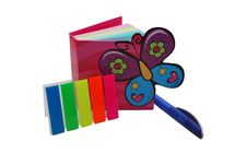 Color Bookmarks And Book Stock Photos