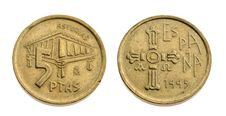 Free Old Spanish Coin Stock Photography - 14678872