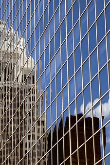 Modern Office Building With Reflections Stock Photo