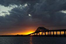 Free A Bridge Into The Setting Sun Stock Photos - 14679083