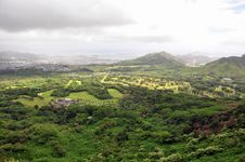 Nuuanu Pali Lookout Stock Photography