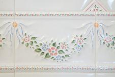 White Bathroom Tiles Stock Photography