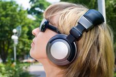 Young Woman Listening Music Stock Photography