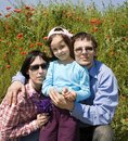 Free Family In The Summer Meadow Royalty Free Stock Photography - 14680277