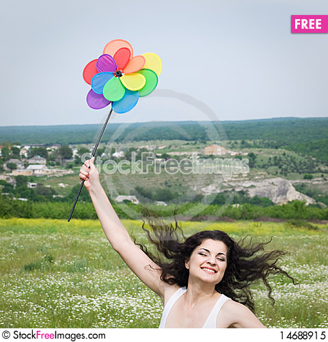 Free Girl In Field Royalty Free Stock Photo - 14688915