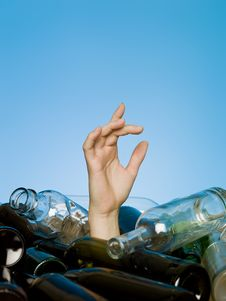 Free Buried In Glass Bottles Stock Image - 14680181